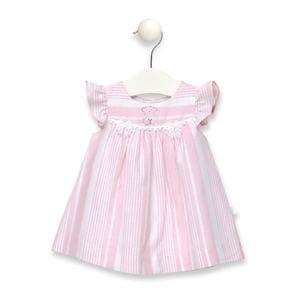 Vestit ratllat Classic rosa
