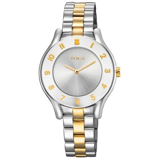 Reloj Errold bicolor de acero/IP dorado