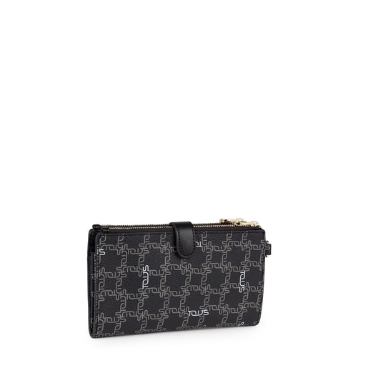 Black New TOUS Logogram Clutch-wallet