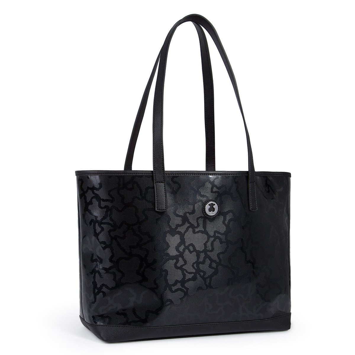 7ba78d2e0d Black colored Kaos Shiny Tote bag - Tous Site US