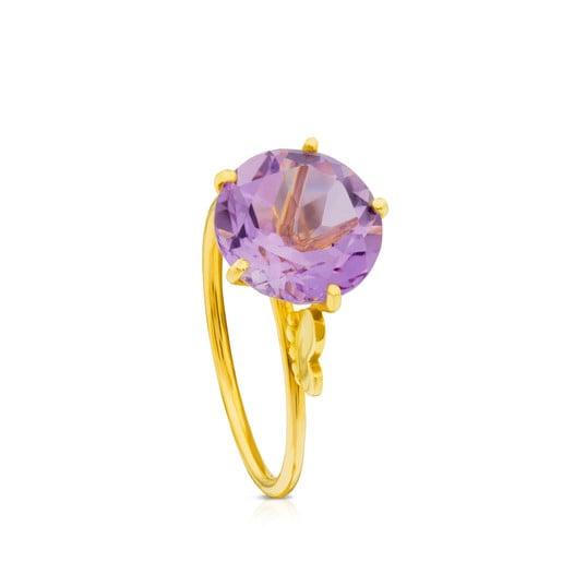 Δαχτυλίδι Ivette  από Χρυσό με Αμέθυστο