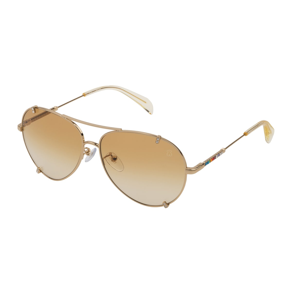 Gold colored Straight Gema Metal Sunglasses