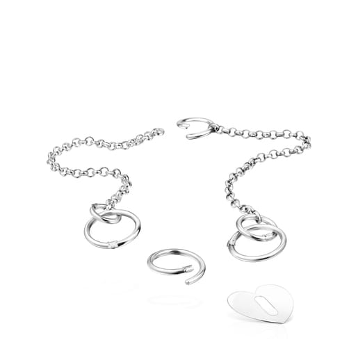 Hold Metal Silver Heart Pendant