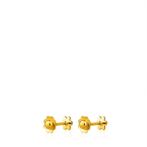 Aros TOUS Basics de Oro