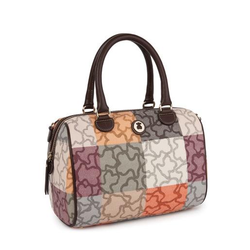 Orange-brown colored Canvas Kaos Cuadrados Bowling bag