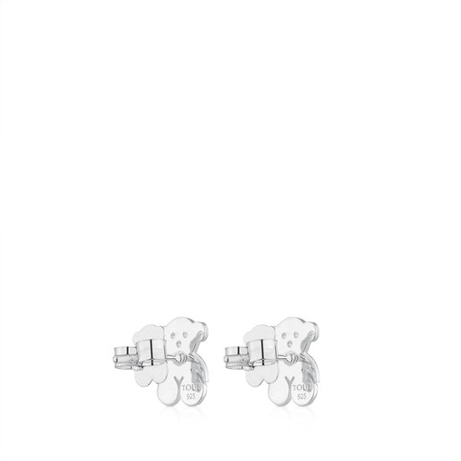 Silver TOUS Bear Earrings