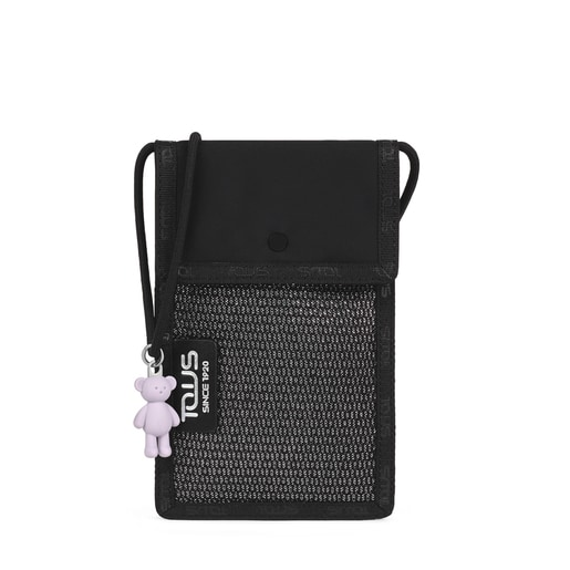 Ina black and gray mobile holder