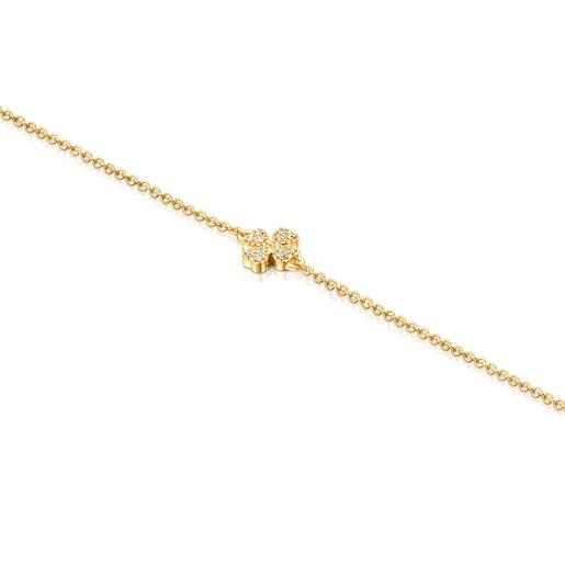 Pulsera trébol de oro y diamantes TOUS Good Vibes
