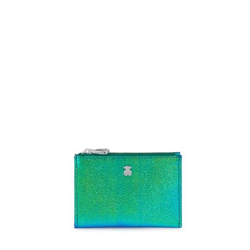 Iridescent Green Dorp Change Purse-Cardholder
