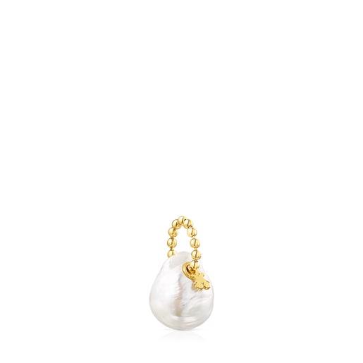 Pendentif Gloss en Argent vermeil et Perle
