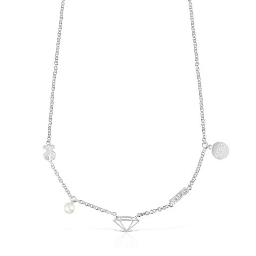 Collar Since 1920 de Plata con Perla
