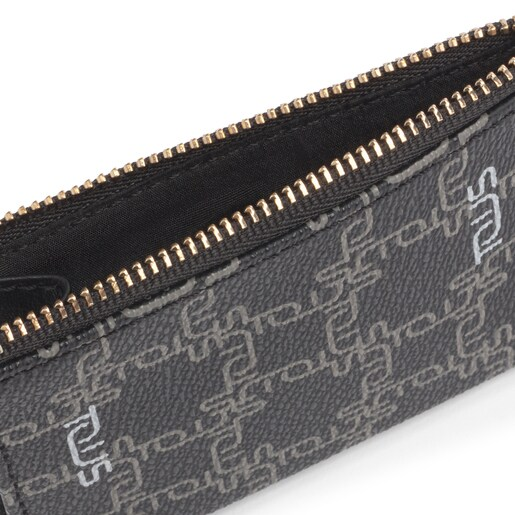Black Tous Logogram wallet-cardholder