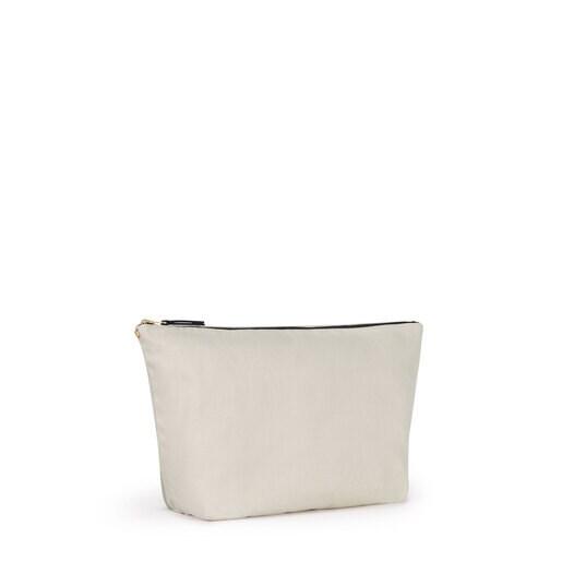 Small sand-taupe colored Canvas Kaos Shock Bag