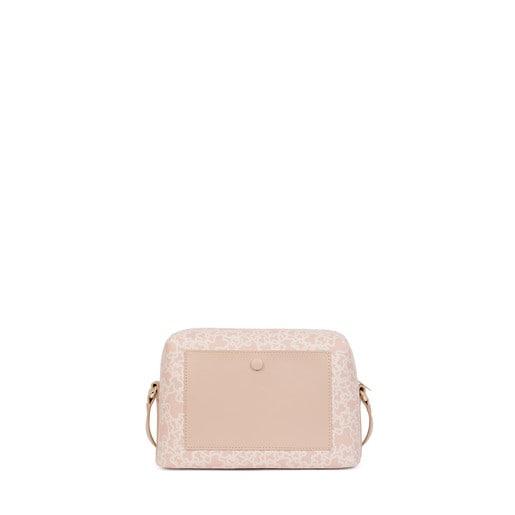 Medium pink colored Canvas Kaos Mini Crossbody bag