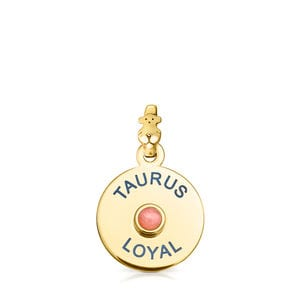 Vermeil Silver TOUS Horoscopes Taurus Pendant with Opal