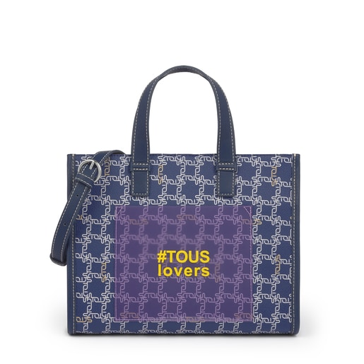 Sac shopping Amaya Logogram moyen bleu