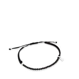 Braçalet TOUS Color de Plata i Cordó de color negre
