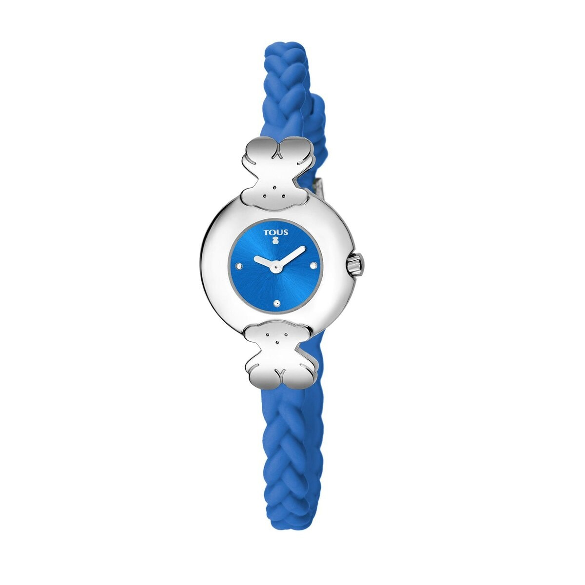 Steel Très Chic Watch with blue Silicone strap