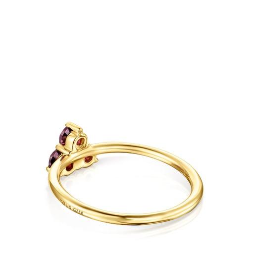 Gold Luz Ring with Rhodolite