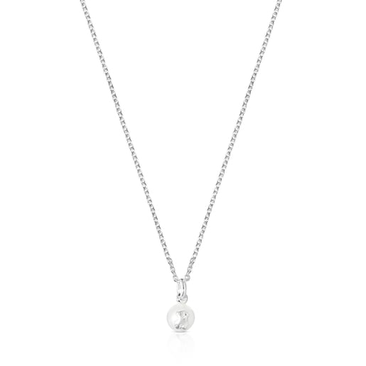 Silver and Pearl Icon Pearl Necklace