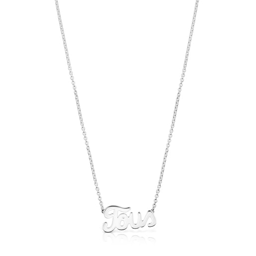 Silver TOUS Logo Necklace