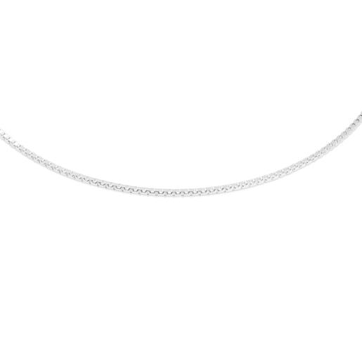 41cm Silver TOUS Chain semi-rigid Choker.