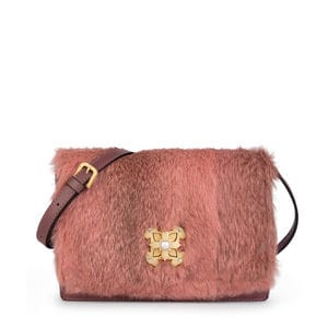Medium pink Leather Rossie Warm Crossbody bag