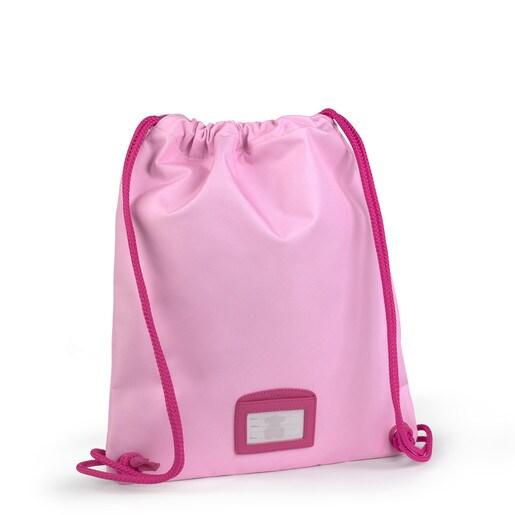 Mochila pequeña plana School rosa