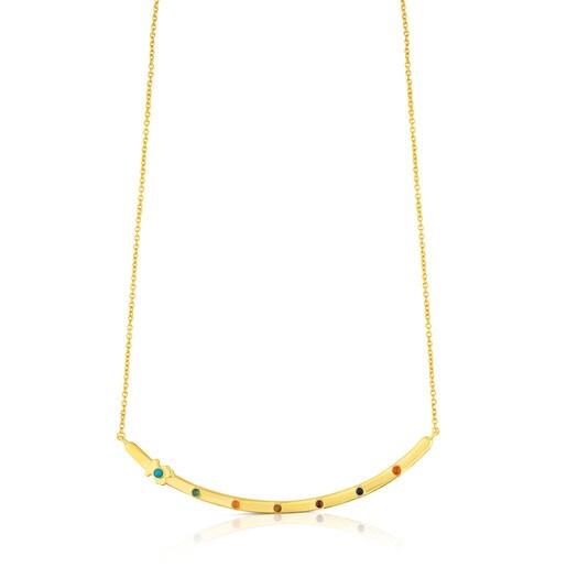 Vermeil Silver Super Power Necklace with Gemstones