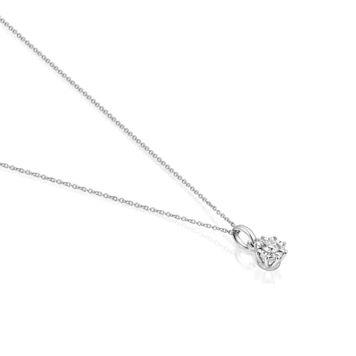 White gold Les Classiques Necklace with small Diamond rosette