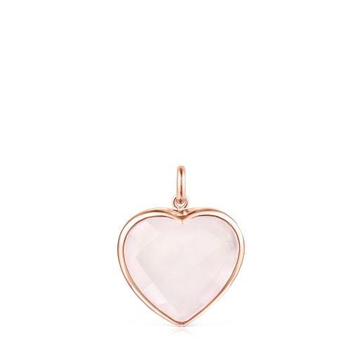 Anhänger Sweet Dolls Color aus rosafarbenem Vermeil-Silber und Rosenquarz