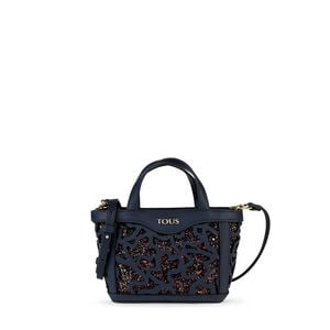 Mini navy blue Kaos Shock Tote bag