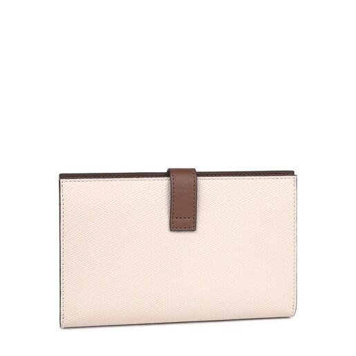 Medium beige and brown TOUS Essential Wallet