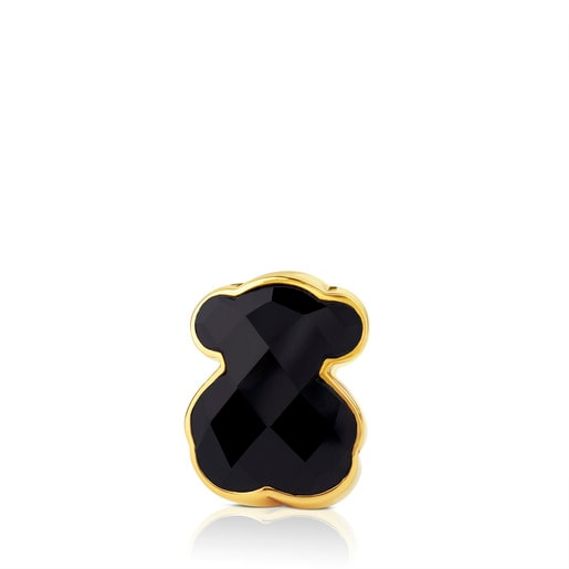 Vermeil Silver Color Ring with Onyx