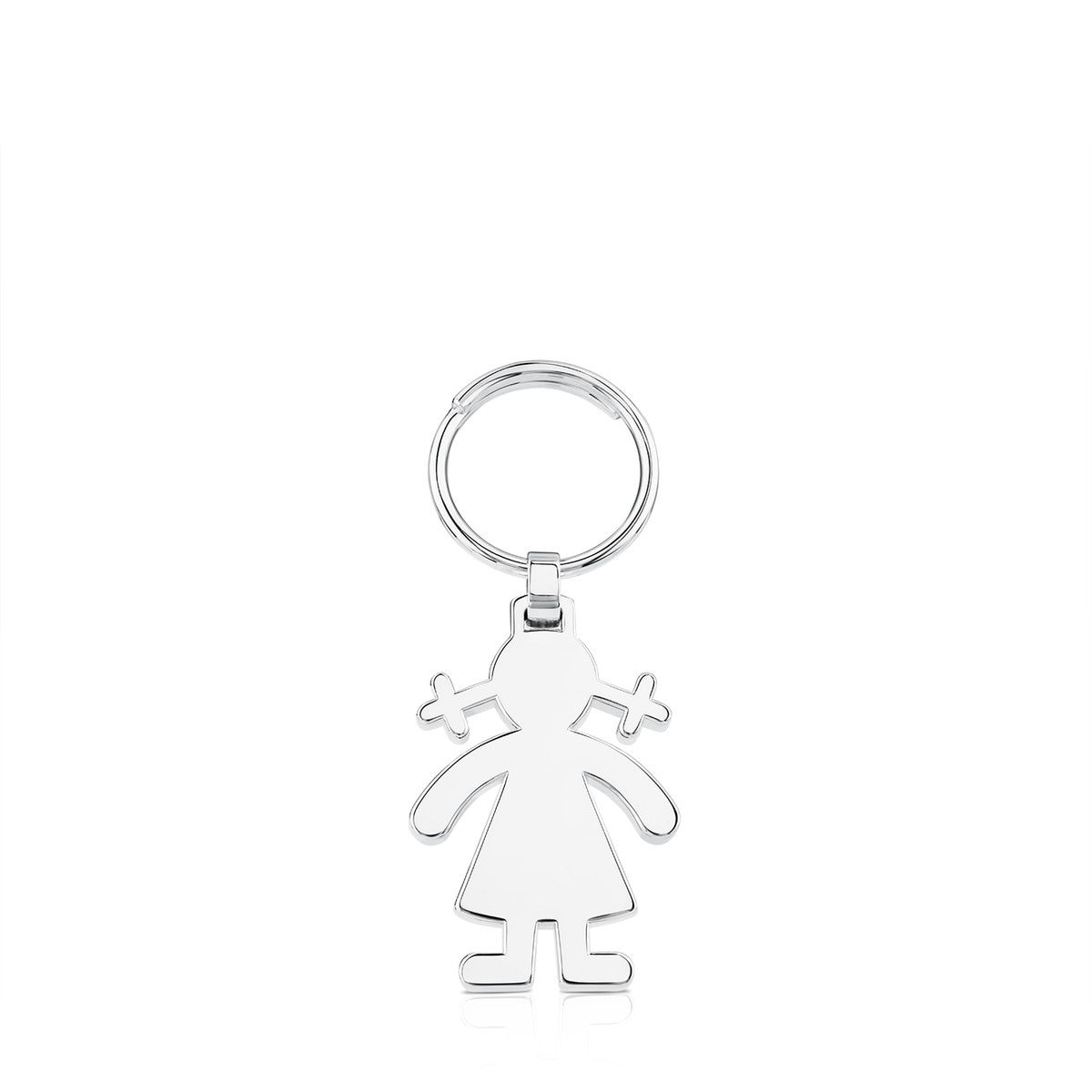 Silver TOUS Basics Key Ring