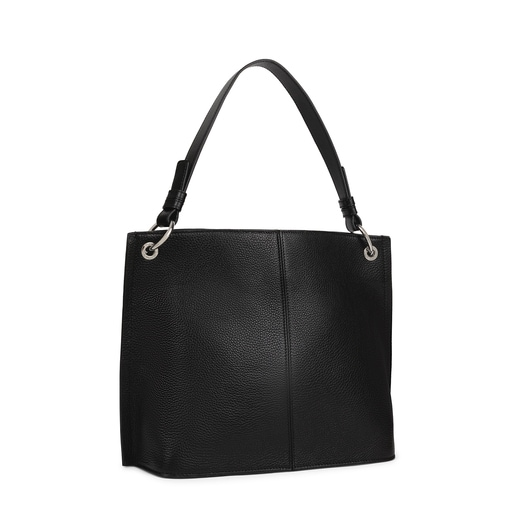 Large black Leather TOUS Icon One shoulder bag