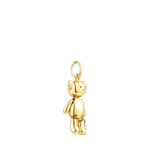 Medium Gold Teddy Bear Pendant with Diamonds – Limited edition