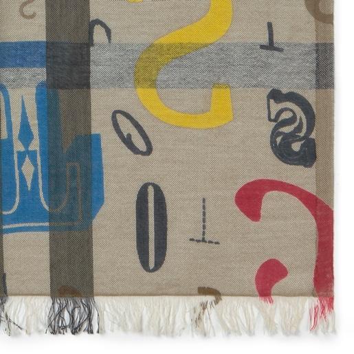 Jeans-red Alicya Letters foulard