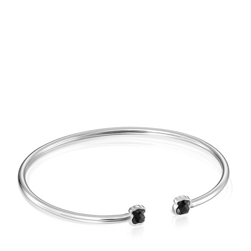 TOUS Mini Onix Bracelet in Silver with Onyx 5,5cm