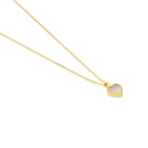 Colar XXS coração em Ouro e Nácar