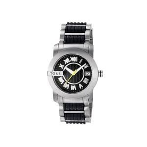 Rellotge Oto d'acer amb corretja de silicona negra