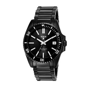 Black IP Steel Drive Dive Watch