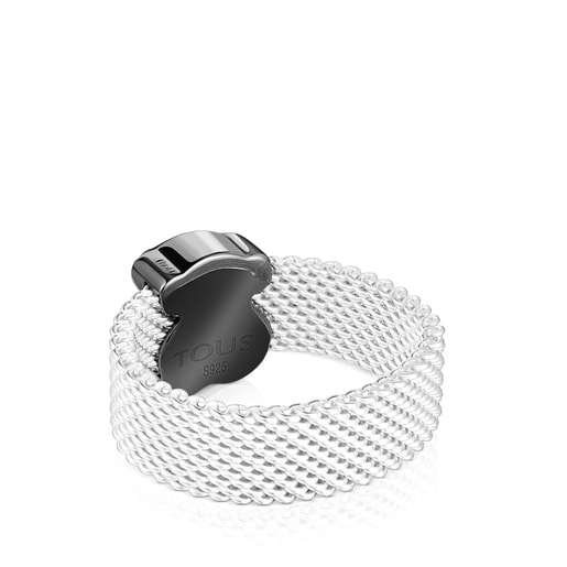 Mesh Color Ring with Onyx