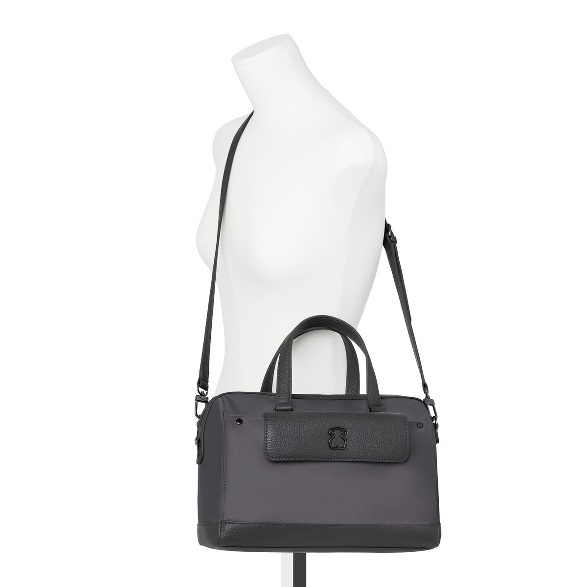 4ceb95099a Gray Nylon Laina Bowling bag - Tous Site US