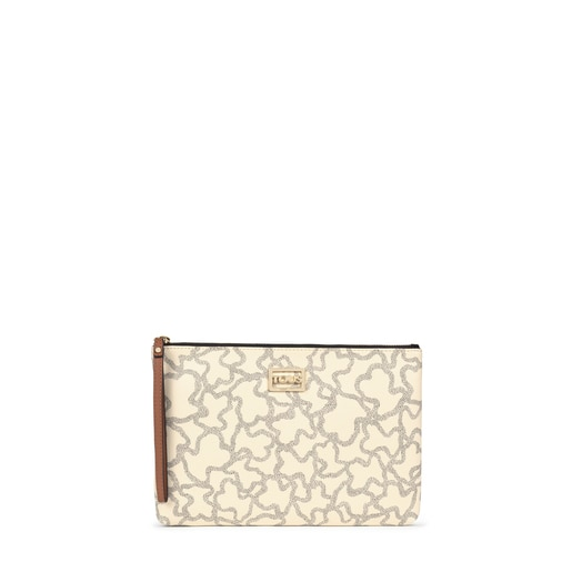 Multi-beige Kaos Icon Clutch bag