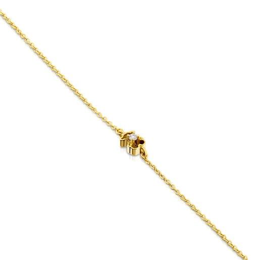 Gold Silueta Bracelet with Diamonds