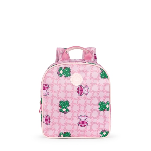 Small pink School Logogram Backpack