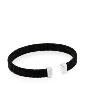 Pulsera Papa Power de Acero IP negro
