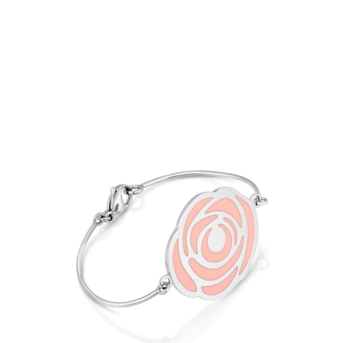 Pulsera Rosa d'Abril de Acero