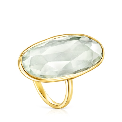 Gold Luz Ring with Prasiolite